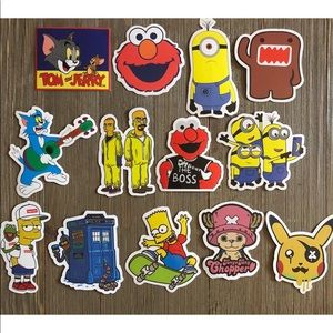 New 13 assorted stickers